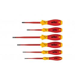 WIHA Set di Cacciavite a Taglio Isolati SoftFinish SlimFix 6 PZ 3201 K6   535389